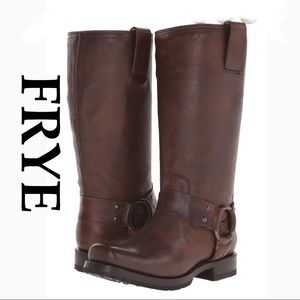 NWT FRYE Boots harness Heath maple 6 Gorgeous